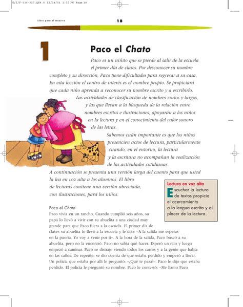 espaol lecturas archives paco el chato lpm espanol 1 p 001 101