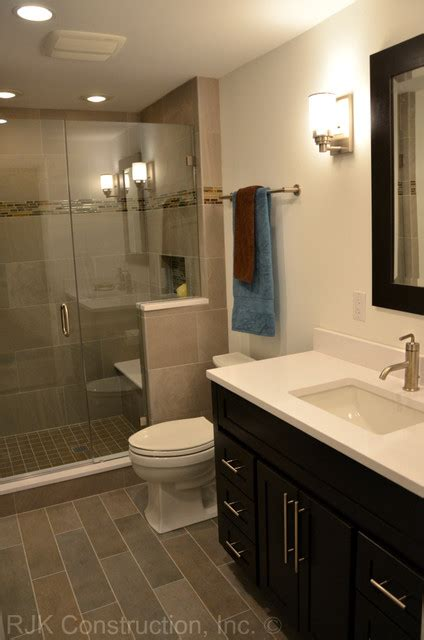 Houzz Bathroom Ideas Masculine Bathroom Renovation Contemporary Bathroom Dc Metro By Rjk Construction Inc
