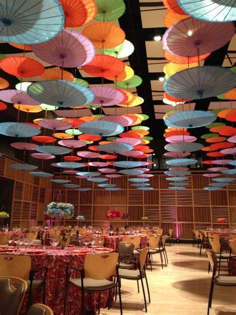 Amazing array of our Paper Parasols hung upside down (http
