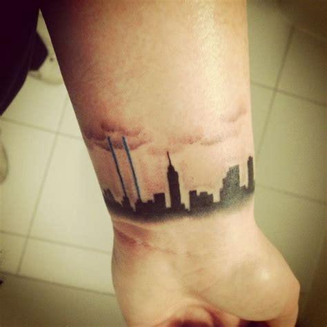 tattoo of nyc new york skyline tattoo tattoos