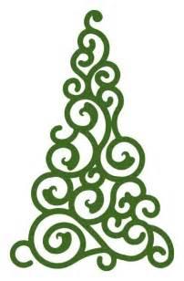 swirl christmas tree cameo files tutorials pinterest