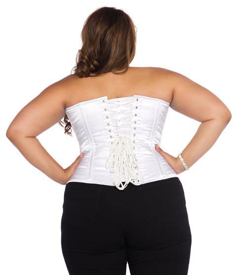Satin Corset white satin corset plus size plus size bridal