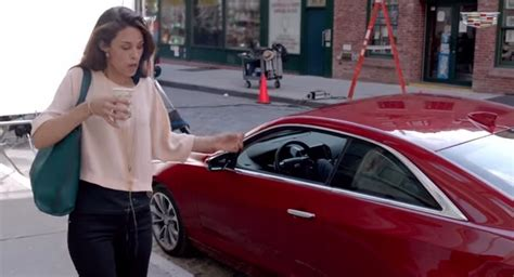 Asian Fashion Designer In Cadillac Commercial 2015 | cadillac ats coupe coffee spill car commercial gm authority