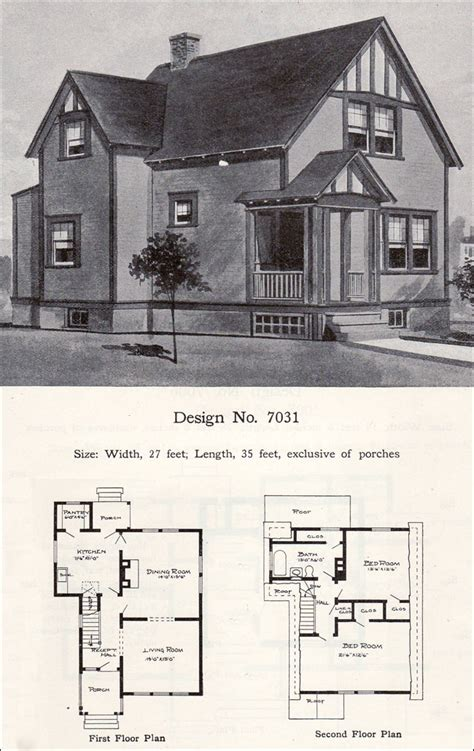 tudor house plans 1920 s craftsman and tudor revival details two story 1908