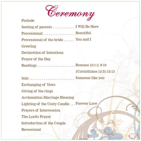 wedding ceremony template lutheran wedding ceremony outline search future
