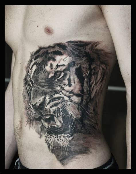 side stomach tattoos rageous belly side tiger best ideas gallery