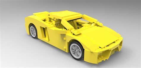 Lego Lamborghini Gallardo Lego Lamborghini Gallardo Free 3d Model Stl Cgtrader