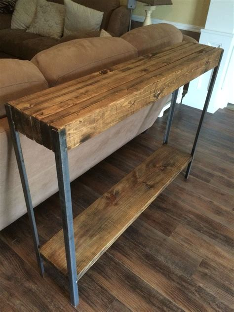 the sofa table rustic metal leg sofa table wayne williams wood works