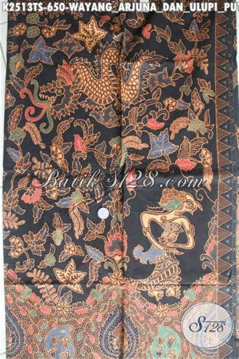 Kain Wayang jual kain bati mahal motif wayang arjuna dan ulupi putri