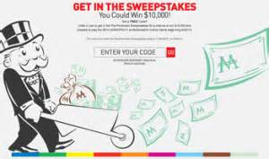Monopoly Second Chance Sweepstakes - mcdonald s online game win 10 000 2014 monopoly swe giveawayus com