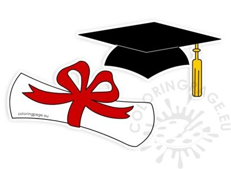 graduation scroll template school coloring page