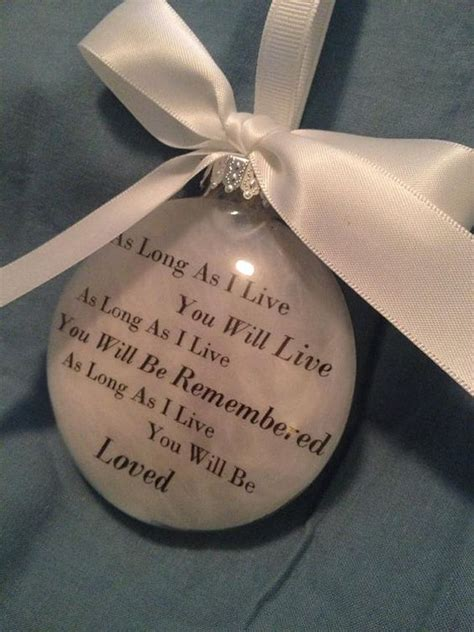 in memory gift memorial remembrance christmas ornament quot as