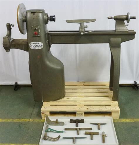 union graduate wood turning lathe pennyfarthing tools