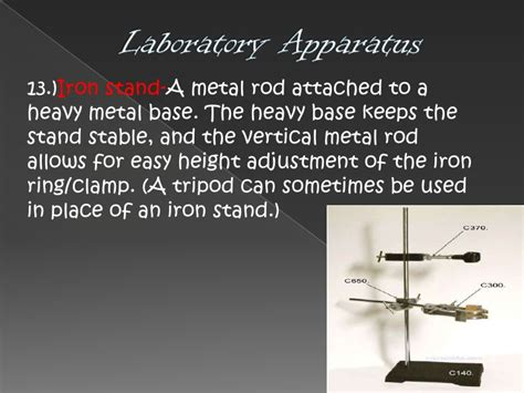 Uses Of Iron Stand And Ring by Laboratory Apparatus