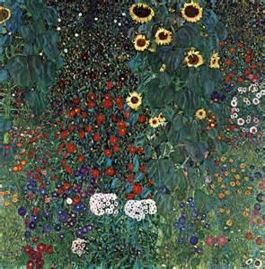 Gustav Klimt Flower Garden Farm Garden With Sunflowers 1913 By Gustav Klimt