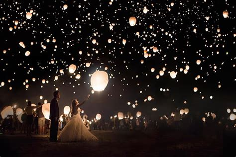 light up the night sky with a lantern release over the