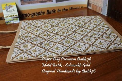 Jual Kartu Ucapan Handmade Sizemedium Motif Batik Gold 1box Jual Paperbag Tas Kertas Handmade Batik Sidomukti Gold