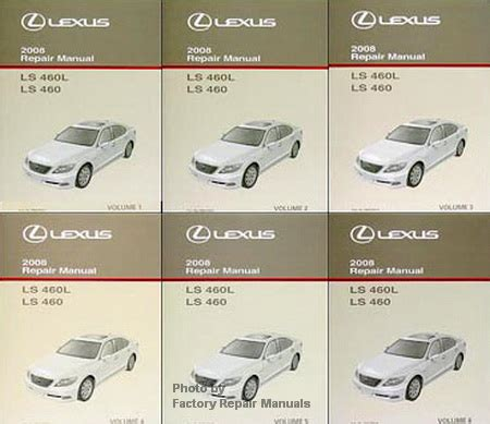 small engine service manuals 2008 lexus ls on board diagnostic system 2008 lexus ls460 factory repair manual 6 volume set ls 460 original shop service factory
