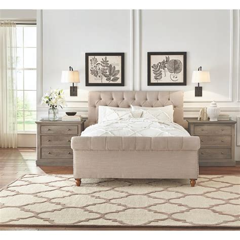 home decorators collection gordon natural king sleigh bed