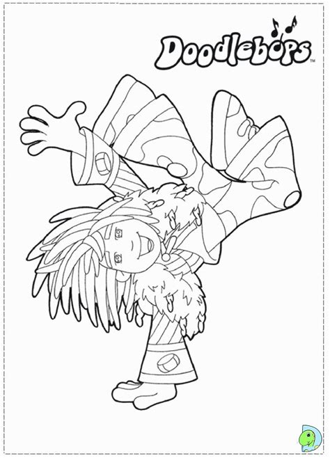 doodlebops coloring pages coloring home
