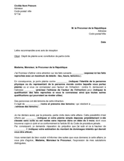 formulario lettere avvocato lettre de plainte avec constitution de partie civile