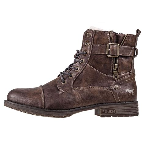 m s mens boots mustang lace up boot mens ankle boots in brown