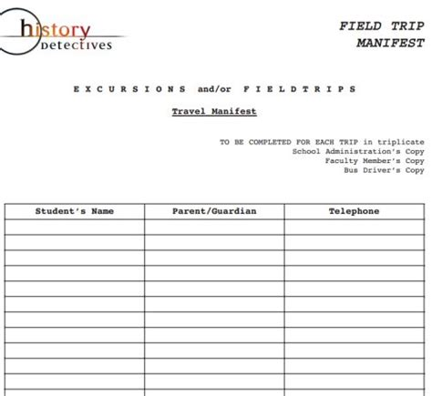 Field Trip Planner Template Free Online Sites And Resources To Plan Your Educational