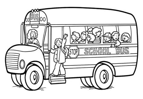 coloring page of school bus driver school archives gianfreda net
