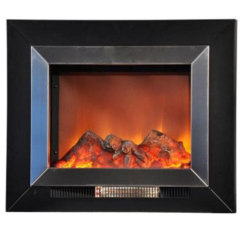 Stainless Steel Electric Fireplace by Yosemite Home Decor Aries 24 In Wall Mount Electric