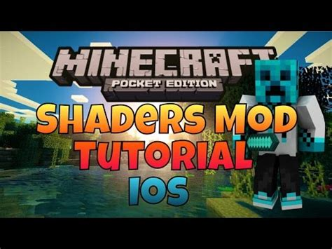 mod in minecraft pe ios minecraft pe ios shaders mod and how to install youtube