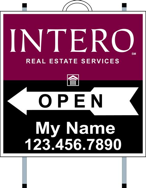 open house signs real estate intero real estate services real estate signs yard