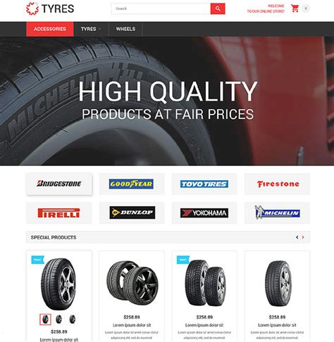 Free Tire Shop Website Template Free Tire Shop Website Template 15 Best Ecommerce Templates For Wheels And Tires Websites Ideas