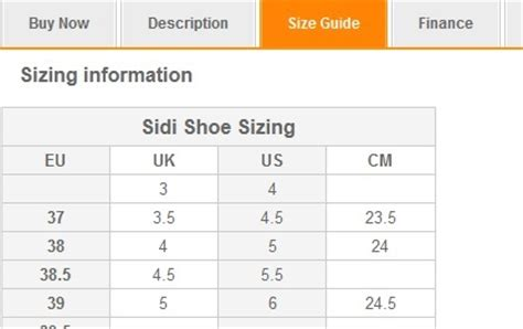 sidi bike shoes size chart cycle shoes buying guide wiggle guides