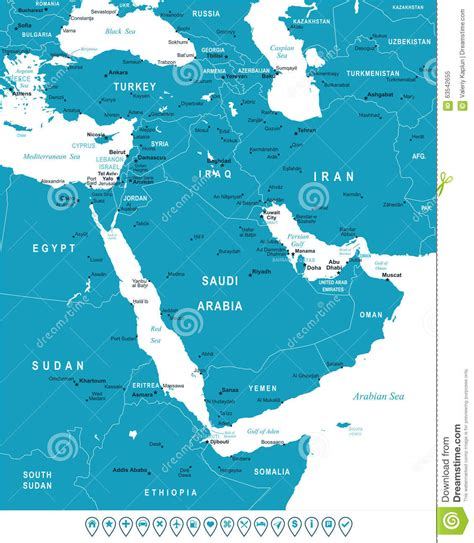 middle east map navigation middle east and asia map and navigation labels