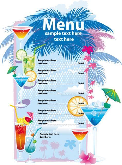 hawaiian menu template speisekarten vorlagen zum gestalten 187 saxoprint