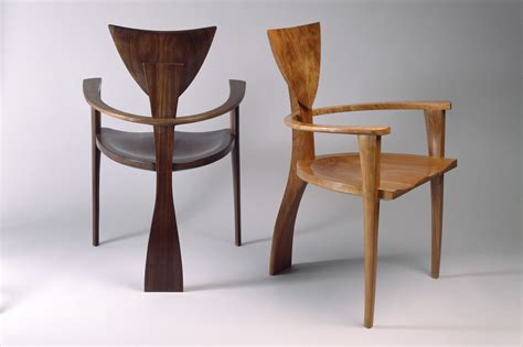 Handmade Designer Furniture - finback chair custom designed solid wood chairs seth