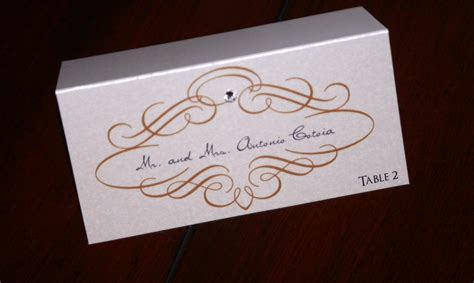 place cards gold scroll wedding place cards too chic little shab