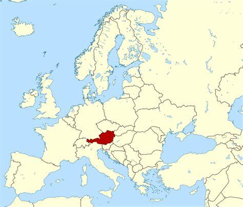austria on map detailed location map of austria austria detailed