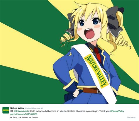Nature Valley Meme - image 748514 nature valley anime tweets know your meme