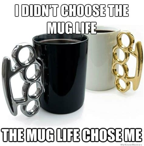 Mug Meme - i didn t choose the mug life weknowmemes
