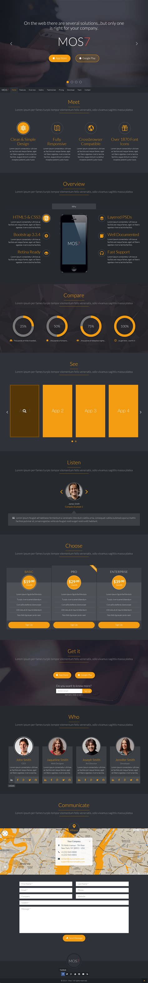 responsive layout bootstrap 3 tutorial mos7 responsive bootstrap 3 app landing page by
