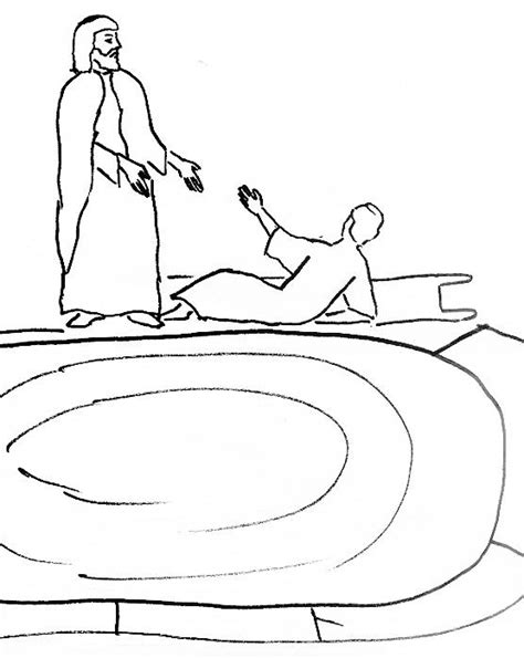 Free Coloring Pages Of Pool Of Bethesda Pool Coloring Page