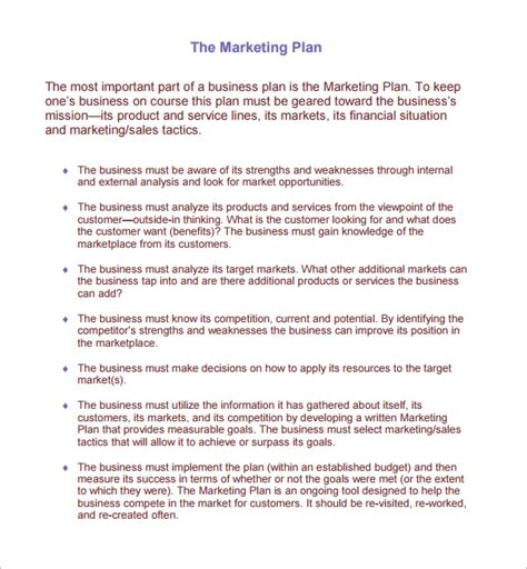 Marketing Plan Template 65 Free Word Excel Pdf Format Download Free Premium Templates Marketing Plan Template Pdf
