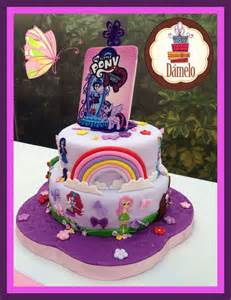 Equestria And My Pony Cake My Pony Equestria 2 Layer Cake Vanilla Cake With Chocolate Chips My Pony