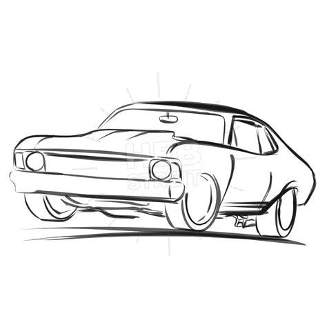 Auto Sketch by Car Outline Sketch Hebstreits