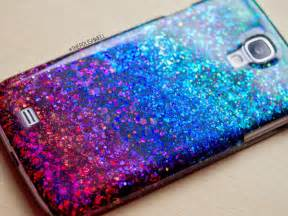 the polish well diy glitter phone cover