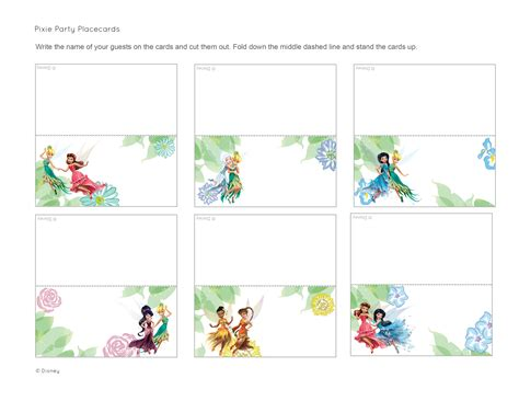 printable disney thanksgiving cards pixie party place cards disney family