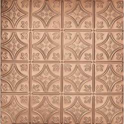 Copper Ceiling Tiles Shop Armstrong Metallaire Copper Patterned 15 16 In Drop