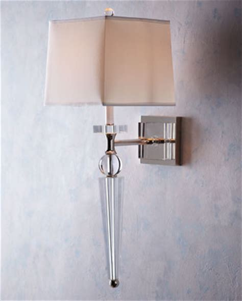 crystal bathroom sconce lighting crystal spear sconce eclectic wall sconces by horchow