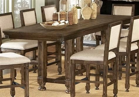 rustic counter height dining table homelegance ardenwood counter height table 893 36 at